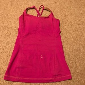 Pink lululemon tank top!